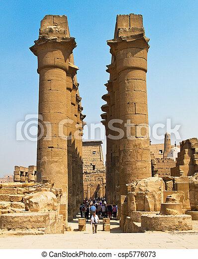 Egypt, Luxor, Amun Temple of Luxor. - csp5776073