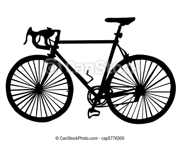 Silhouette of a bicycle - csp5776300