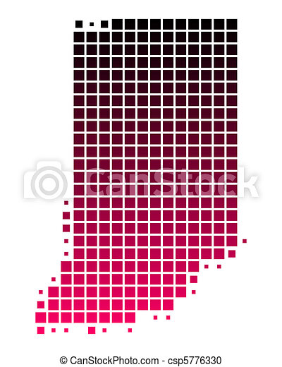 Map of Indiana - csp5776330