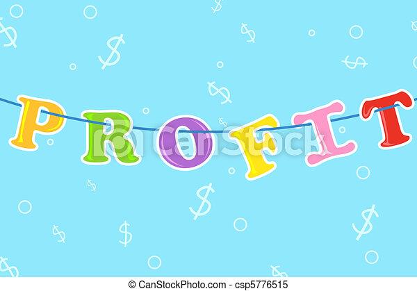 Hanging Profit - csp5776515