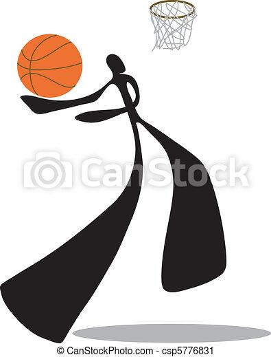 Shadow man basketball - csp5776831