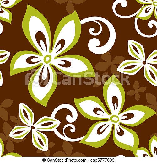Seamless ALOHA Hawaii Pattern - csp5777893