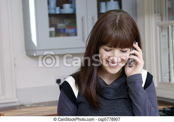 Woman using mobile - csp5778907