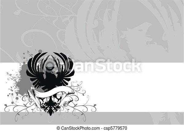 heraldic eagle coat of arms4 - csp5779570