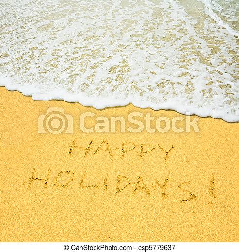 glücklich, Feiertage - csp5779637