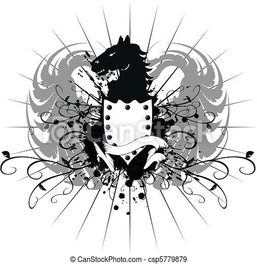 heraldic horse coat of arms 8 - csp5779879