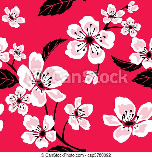 Sakura (Cherry) Blossom Pattern - csp5780092