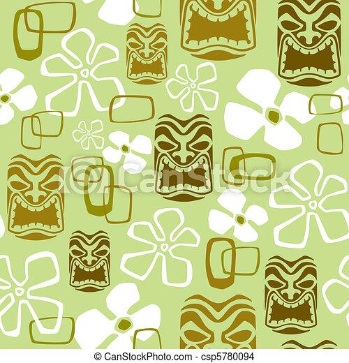 Exotic Tiki Paradise Pattern - csp5780094