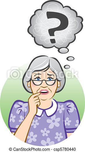 Confused Senior Woman - csp5780440