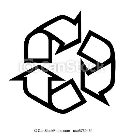 Dessin de symbole recyclage recyclage symbole dans for Dessin graphique noir et blanc