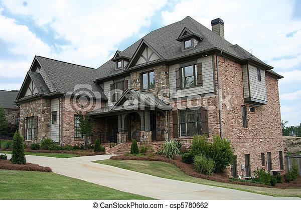 Upper class luxury home - csp5780662