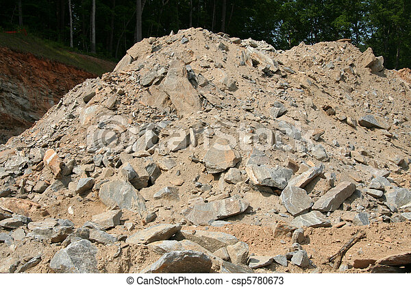 Dirt and rubble pile - csp5780673