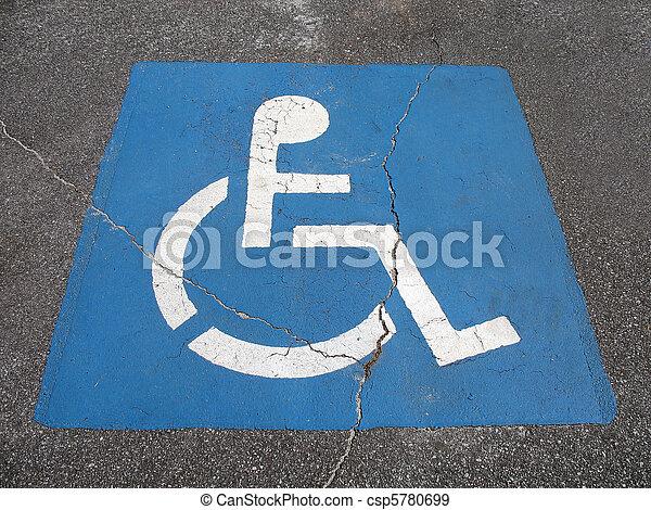繪, 障礙, 停車處, 地方, 簽署 - csp5780699
