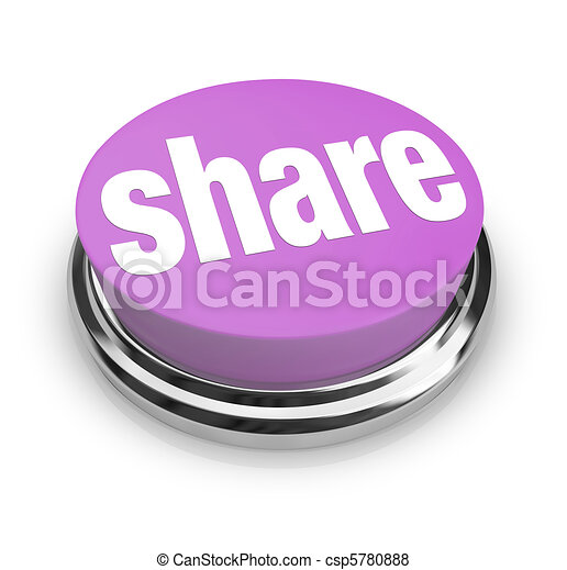 Share Word on Round Button - Generosity - csp5780888