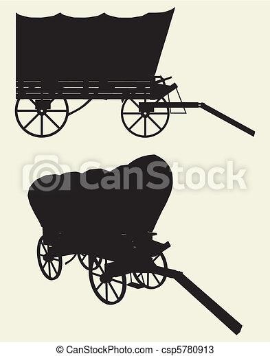 Western Stage Coach Wagon - csp5780913