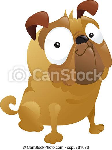 Smirking Pug Dog - csp5781070