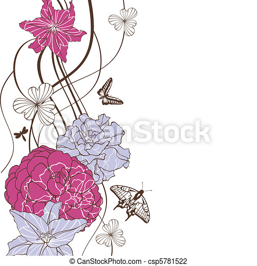 lovely floral background - csp5781522