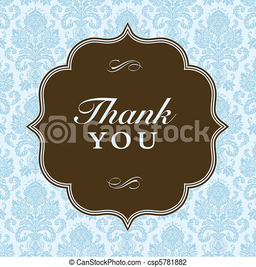 Vector Square Thank You Frame and Background - csp5781882