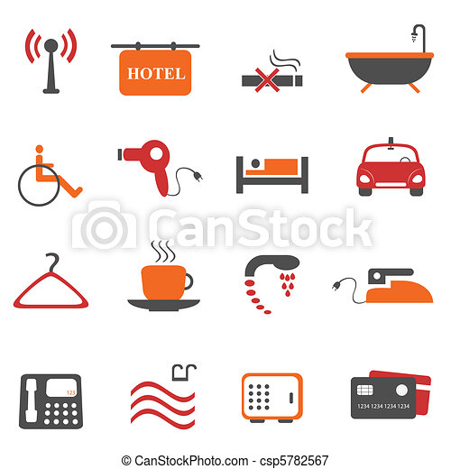 Hotel or accommodation icons - csp5782567