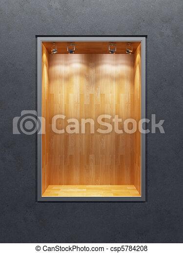 stock illustration von kleiderladen leerer schaukasten leerer kleiderladen csp5784208. Black Bedroom Furniture Sets. Home Design Ideas