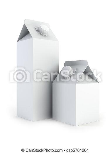 isolated blank milk boxes - csp5784264