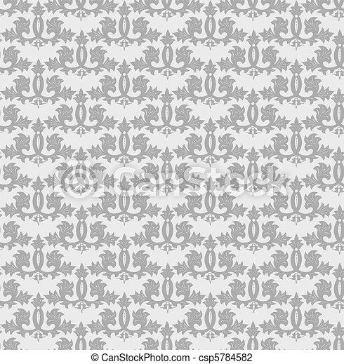 Seamless grey wallpaper pattern. Vector - csp5784582