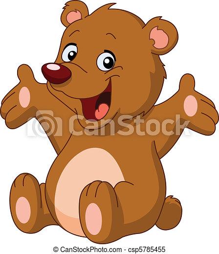 Happy teddy bear - csp5785455
