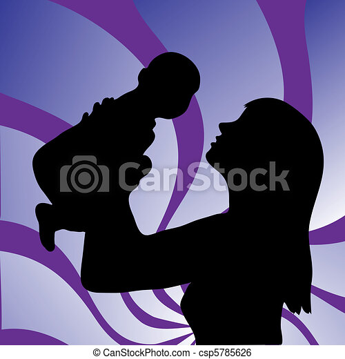 A young woman and baby - csp5785626