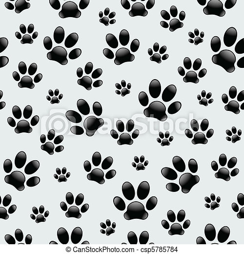 Dog's Footprints-Seamless Pattern - csp5785784