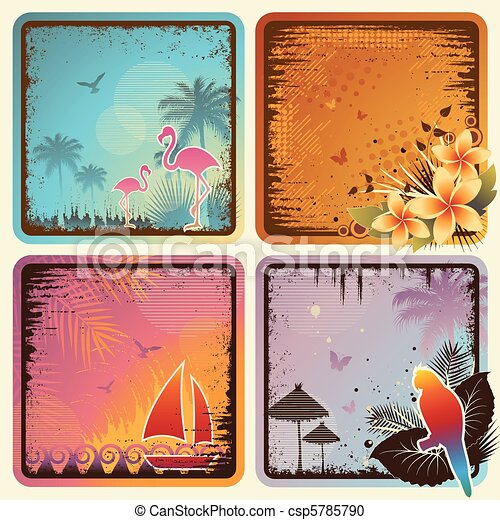 Tropical Cards Set - csp5785790