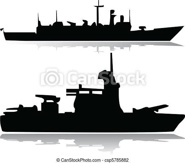 Military ships vector - csp5785882