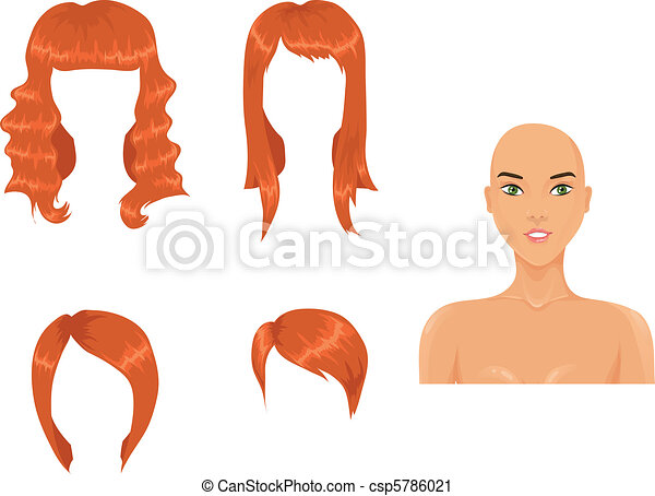 Set of woman haircuts - csp5786021