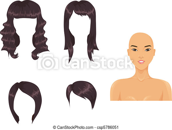 Set of woman haircuts - csp5786051