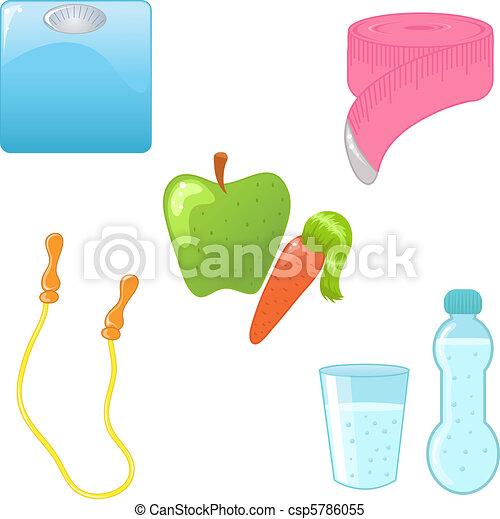 Diet icons - csp5786055