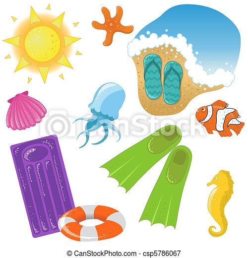 Vector vacation icon set - csp5786067