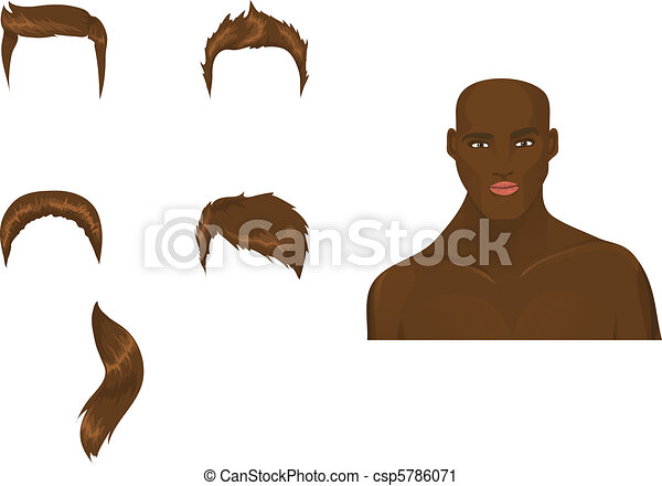 Set of male haircuts - csp5786071
