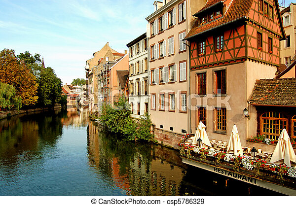 The river Ill in the Petite France - Strasbourg - France - csp5786329