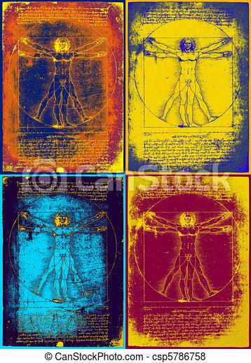 Leonardo's vitruvian man - csp5786758