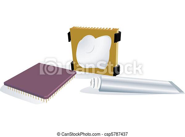 The processor, radiator, thermo-paste - csp5787437
