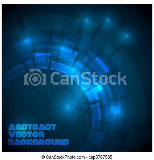 Abstract dark blue technical background - csp5787585