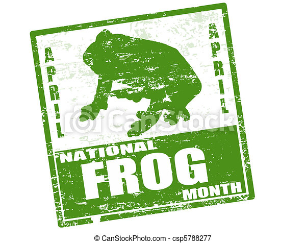 National Frog Month stamp - csp5788277