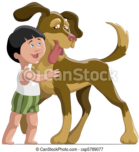 The boy and dog - csp5789077