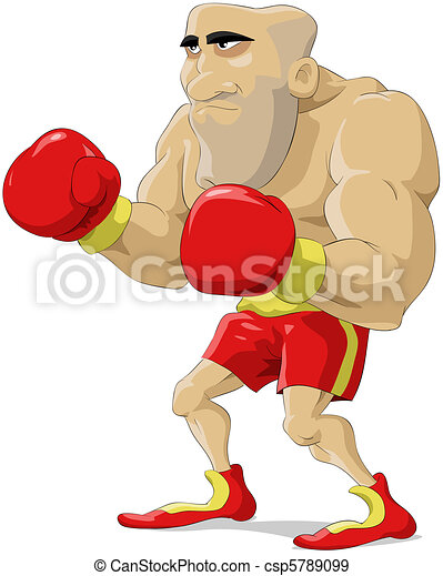 Cartoon boxer - csp5789099