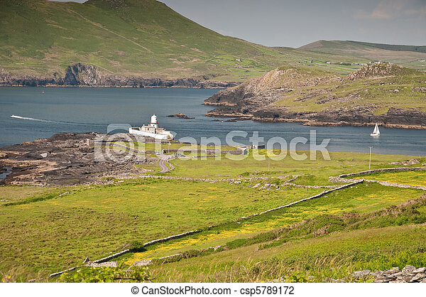 scenic rural countryside nature landscape in ireland - csp5789172