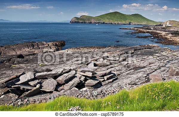 scenic rural countryside nature landscape in ireland - csp5789175