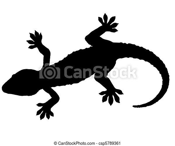 Clipart di geco silhouettecsp5789361 cerca clipart for Disegno geco