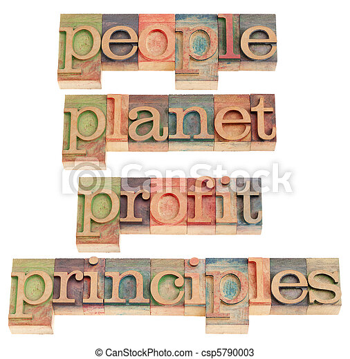 people, planet, profit, principles - csp5790003