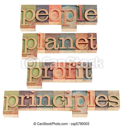 people, planet, profit, principles - csp5790003