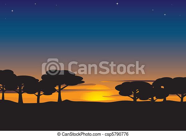 Summer evening  - csp5790776