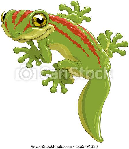 clipart vecteur de l233zard mignon vert l233zard a gecko
